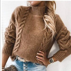 🎈 - - cable knit sweater